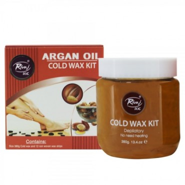 Rivaj UK Argan Oil Honey Cold Wax Kit 380 Gram
