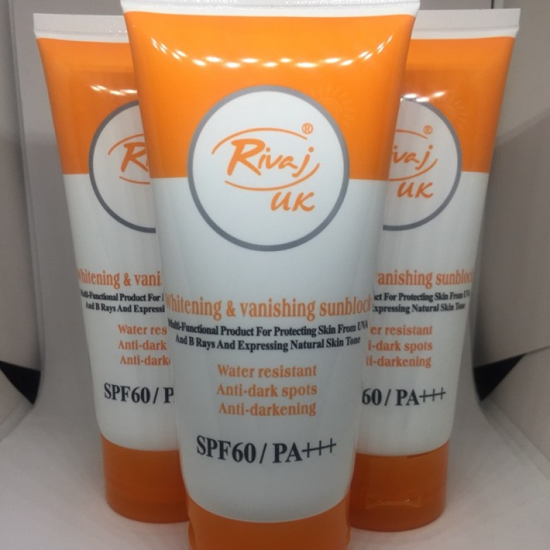 Rivaj UK Whitening & Vanishing Sun Block SPF 60 / PA+++ 50ML