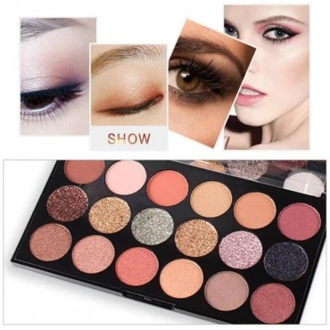 Miss Rose 18 Color Matte Shimmer Eyeshadow Palette