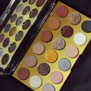 Miss Rose 18 Colors Matte+Glitter+Shimmer Eyeshadows Palette