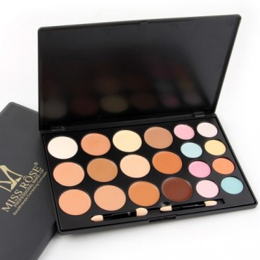 Miss Rose 20 Colors Cream Contour + Corrector + Concealer Palette