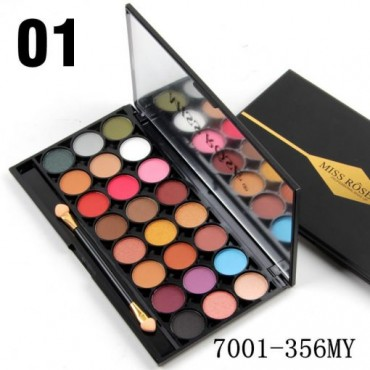 Miss Rose 24 Colors Velvet + Matte Eyeshadows Palette