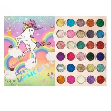 Miss Rose 30 Colour's Unicorn Glitter Eyeshadow Pallete