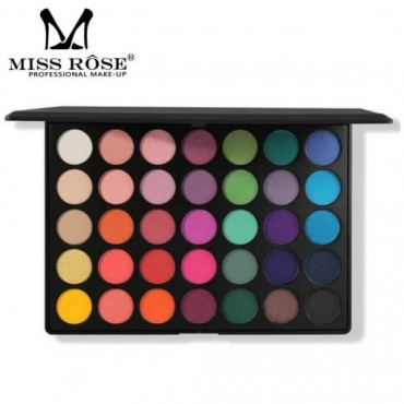 Miss Rose 35 Colors Colorfull Eyeshadow Palette Black Cover