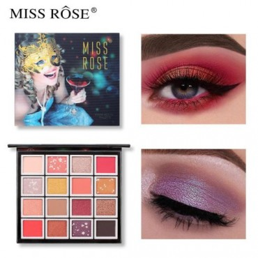 MISS ROSE Makeup 16 Color Perfect Eyeshadow Palette